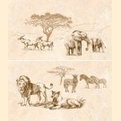 Интеркерама (Intercerama) - safari П 73 031 панно